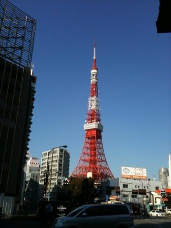 東京タワーへ