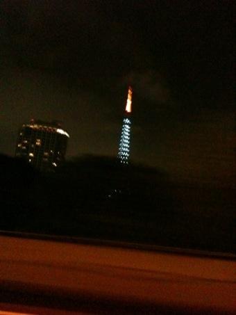 青い東京タワー